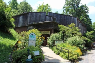 Design for the entrance to the WNC Nature Center by Sims Group Consulting Engineers in Asheville, North Carolina